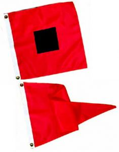 Hurricane Warning Storm Signal Flag Set