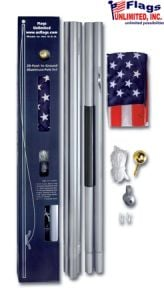 Flagpole - Sectional American Flagpole Kit