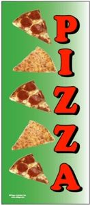 Pizza Tall Flag