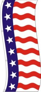 Uncle Sam Tall Flag