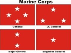 Officers Flags Marine Corps USMC