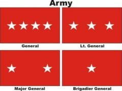 Officers Flags Army