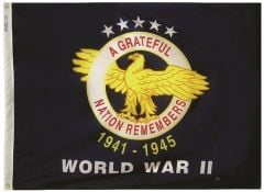 World War II WWII Commemorative Flag