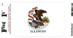 Illinois Flag Decal Sticker