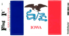 Iowa Flag Decal Sticker
