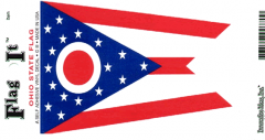 Ohio Flag Decal Sticker