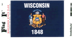 Wisconsin Flag Decal Sticker