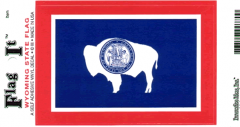 Wyoming Flag Decal Sticker
