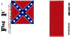 Third Confederate Flag Decal Sticker