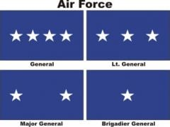 Officers Flags Air Force USAF