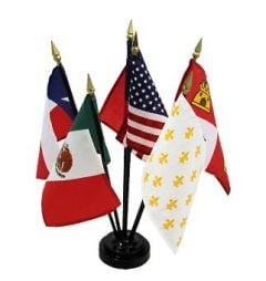 6 Flag Set - Six Flags of Texas