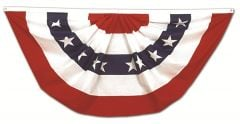 Pleated Full Fan With Stars Bunting