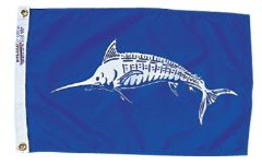 Fish Flag - White Marlin Design