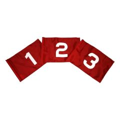 Outgoing Numbers 1-9 Red Flag White Numbers