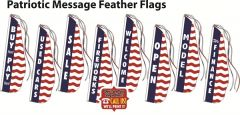 Patriotic Message Feather Flags