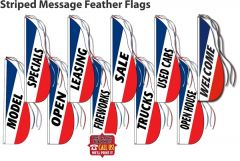 Striped Message Feather Flags