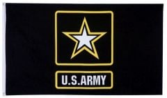 Army Logo Flag - Black