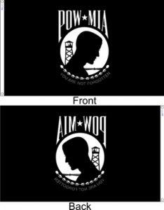 POW MIA Flag Front & Back Shown