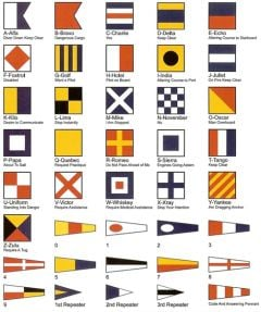 40 Flag Set - Signal Code Flags