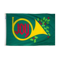 Joy Horn Holiday Flag