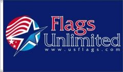 Custom Printed Flag Example - We Can Place Your Design Onto The Flag