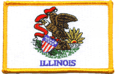Illinois Flag Patch