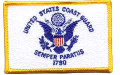 Coast Guard Flag Patch - 2.25''x3.5''