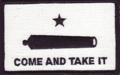 Gonzales (Come And Take It) Flag Patch