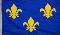 French Fleur-De-Lis (Blue) Flag