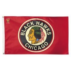 Chicago Blackhawks Flag - Throwback