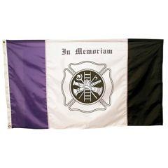 Firefighter Mourning in Memoriam Flag