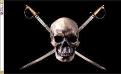 Pirate Skull & Swords Flag
