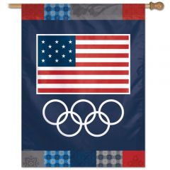Olympic Banner USA Rings