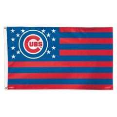 Chicago Cubs Stars & Stripes Flag