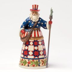 Jim Shore American Santa Figurine