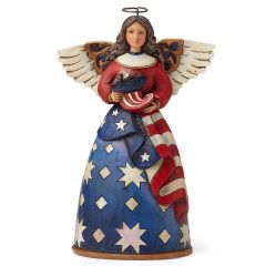 Jim Shore Patriotic Angel in Flag Dress Figurine