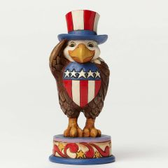 "Jim Shore ""Proud to be an American"" Mini Eagle Figurine"