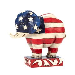 "Jim Shore ""Patriotic Pride"" Elephant Figurine"