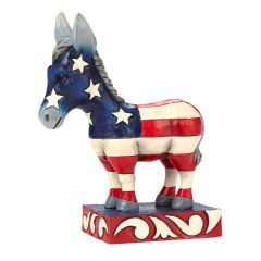 "Jim Shore ""Patriotic Pride"" Donkey Figurine"