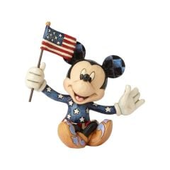 Jim Shore Mini Patriotic Mickey Mouse Figurine