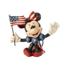 Jim Shore Mini Patriotic Minnie Mouse Figurine