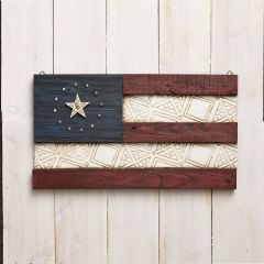 Jim Shore Flag Wall Hanging - River's End
