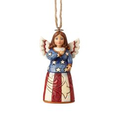 Jim Shore Mini Patriotic Angel Ornament