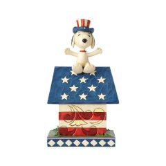 "Jim Shore ""Home of the Brave"" Snoopy Doghouse Figurine"