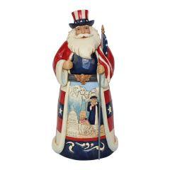 Jim Shore America Santa Around the World Figurine