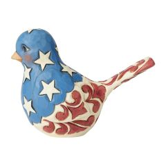 "Jim Shore ""Feathered in Freedom"" Patriotic Bird Figurine"