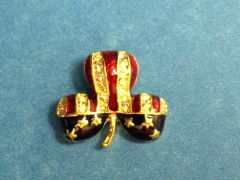Rhinestone Clover Shamrock USA Pin
