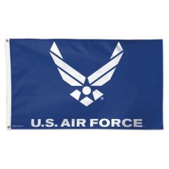 Air Force Wings Logo Flag Blue