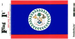 Belize Flag Decal Sticker