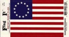 Betsy Ross 13 Star Flag Decal Sticker